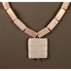 Pink Mother-of-Pearl Rectangles with Ghost Texture Pendant