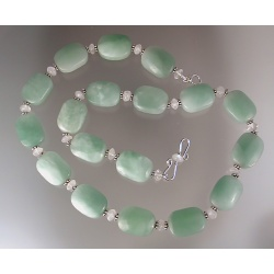 Amazonite Pillow and Moonstone Necklace