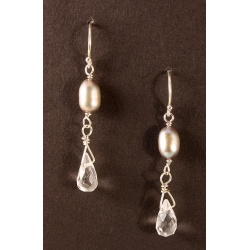 Crystal Quartz Pearl Earrings