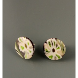 White Blossom Dot Post Earring