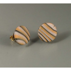 Metallic waves dot post earrings