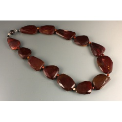 Faceted Moukaite Bead Necklace