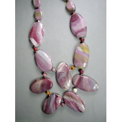Polymer Mookaite Bib Necklace