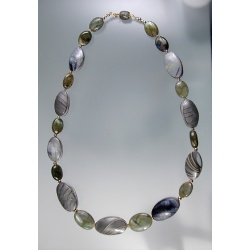 Labradorite and Polymer Abalone Necklace