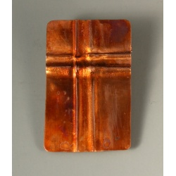 Folded Copper Rectangular Brooch