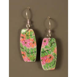 Golden Garden Polymer Column Earrings