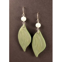 Hosta leaf earrings