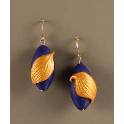 Lapis Dogwood Earrings