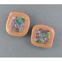 Lavender mosaic post earrings