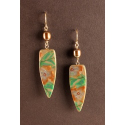 Metallic floral earrings
