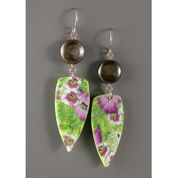 Field of orchids earrings