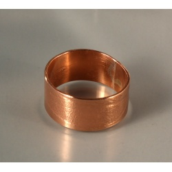 Copper Band with Sage Leaf Imprint