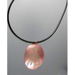 Copper medallion pendant