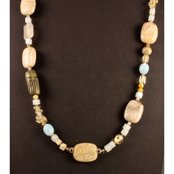 Beach Colors Gemstone Bead Necklace