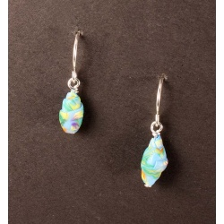 Tiny rolled polymer bead earrings